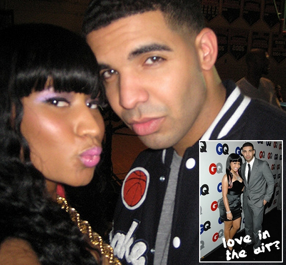 The above picture makes it look like there's some Drake Nicki Minaj dating