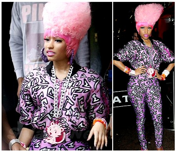 Nicki Minaj Pink Hair caused a lot of hysteria in London.